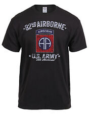 military airborne t-shirt 82nd airborne paratrooper us army tee rothco 80348