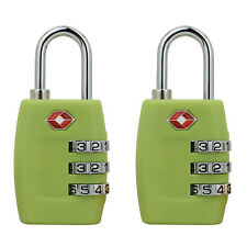 2Pcs TSA Resettable 3-Digit Combination Travel Luggage Suitcase Bag Lock Padlock