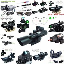 2.5-10X40 Tactical Rifle Scope w/ Green Laser & Mini Reflex 3 MOA Red Dot Sight
