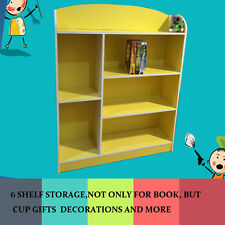 Toy storage stand children unit display kids book shelf case magazine -Wooden