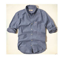 NWT-HOLLISTER-MENS-NAVY-WHITE-STRIPE-MUSCLE-FIT-BUTTON-DOWN-SHIRT