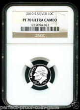 2010-S SILVER Roosevelt Dime 10¢ - NGC PF70 UC - NGC Price Guide Value = $35.00