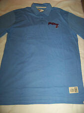 Majestic Men's Cooperstown Collection Philadelphia Phillies Polo Shirt NWT