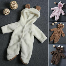 Unisex Newborn Toddler Romper Hooded Baby Boy Girl Jumpsuit Bodysuit Clothes Set