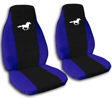 2013 to 2014 Ford Mustang White Horse Seat Covers Black Center ABF