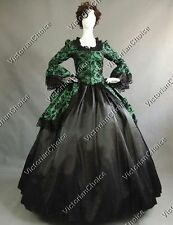 Renaissance Gothic Queen Brocade Dress Party Gown Steampunk Theater Clothing 143