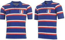 New France Striped Mens Polo Shirt FIFA World Cup Football Top