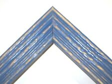 """1 3/8"""" Beach Wildflower Blue Distressed Solid Wood Picture Frames-Standard Size"""