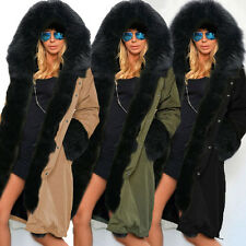 Women Warm Winter Faux Fur Hooded Coat Long Jacket Windbreaker Parka Outwear New