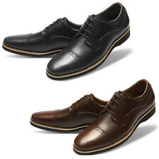 Mooda Mens Leather Shoes Classic Formal Oxfords Dress Shoes DailyL UK