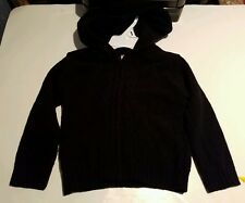 Toddler Girls Faded Glory Brand Black Hooded Sweater Size 3T 4T
