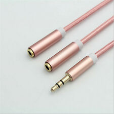 3.5mm Headphone Male to Female Plug Audio Adapter Extension Cable one for two