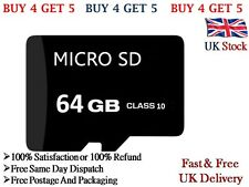 64GB TF Micro SD Memory Card Class 10 With Adapter For Android Mobile & Cameras