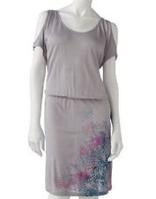 Juniors NWT Mudd Gray Coral Cold Shoulder Graphic Summer Dress size M L NEW