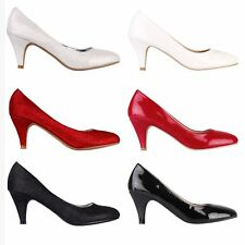 Womens Ladies Fashion Elastic Wide Fit Ankle Boots High Heel Shoes Booties 3-8