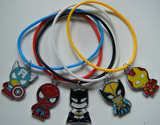 5 x SUPERHERO GUMMY BANDS BOYS PARTY BAG FILLERS GIFTS PRIZES BATMAN AVENGERS