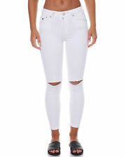 New Res Denim Women's Kitty Skinny Crop Womens Jean Womens Slimfit White