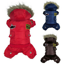Pet Dog Warm Clothes Winter Jumpsuit Track Suit Puppy Hooded Jacket Cheaply