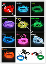Sound Activated 1m LED EL Light Glow Wire String Strip Tube  Dance Party Control