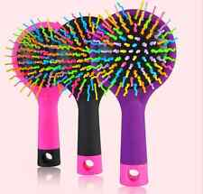 Pop Rainbow Volume Anti-static Curl Straight Comb Brush+Mirror Hair Styling Tool