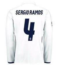 adidas Real Madrid 2016/17 Men's Home Jersey Long Sleeve White w/ Sergio Ramos 4