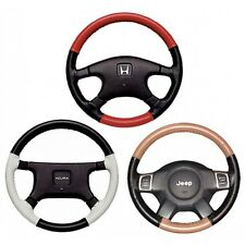 Custom Fit 1 - 2 Color Leather Steering Wheel Cover Wheelskins EuroTone 15 3/4X4