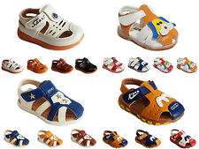 New Baby Boys Summer Sandals Soft Sole Flat Pumps Casual Walk Shoes Infant Size