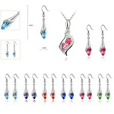Earrings 1 Set Fashion NEW HOT Crystal Necklace Austrian Hot Combination 2016