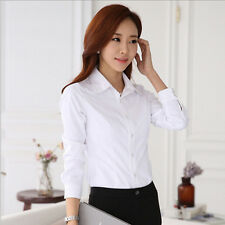 Blouse Top Hot White Shirt Spring/Summer Long Sleeve Shirt New Stylish Women's