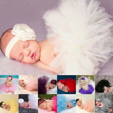 Beautiful Newborn Toddler Baby Tutu Skirt + Headband Photo Prop Costume Outfit