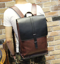 New Men's Vintage Leather Backpack Rucksack Bag Laptop Casual Travel School Bags
