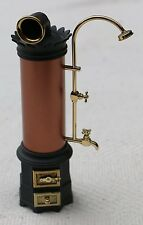 Dolls House Furniture- Victorian water heater and shower (metal) -1/12 scale