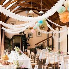 Hanging Paper Garlands Flora Chain Wedding Party Ceiling Banner Decoration HK