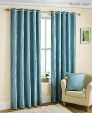 Coco Lined Crushed Taffeta Eyelet Curtains and 4 x 18