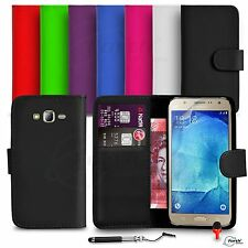 FOR Samsung Galaxy J7 ( J700F ) - Wallet Flip Case Retractable Stylus SP RED DS