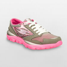 Skechers GOrun Athletic Shoes Girls Gray Pink 5 6 MSRP $59.99 NEW