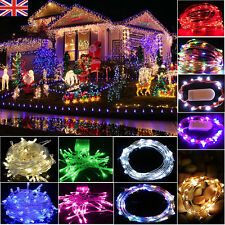 UK LED Fairy Lights Indoor/Outdoor String Lighting Xmas Christmas Party Decor
