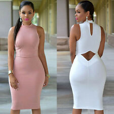 Stylish Sexy Women's Sleeveless Bodycon Bandage Casual Cocktail Club Dress  S-XL