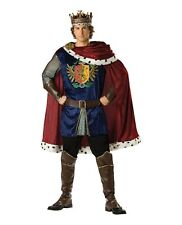 Noble King Prince Charming Game of Thrones Medieval Royal Men's Costume w/ Cape