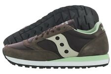Saucony Jazz Original S2044-338 Brown Suede Nylon Casual Shoes Medium (D, M) Men