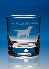 Labrador Retriever Dog Gift Engraved Glass Whisky Tumbler: Can Be Personalised
