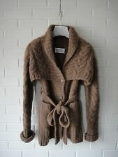 MARTIN MARGIELA FW11 Brown Alpaca Cable Knit Cardigan Sweater NWT!