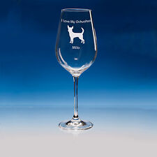 Chihuahua Dog Gift Personalised Engraved Crystal Wine Glass: Choose Your Message
