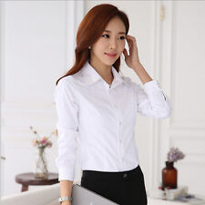Blouse White Shirt Stylish Women's Long Sleeve Shirt Hot Spring/Summer Top New