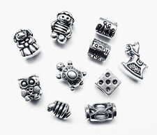 Choice x1 Tibetan Silver Charm Boy Girl Family Dice Snake Owl Turtle Horse Space