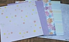 """5 Sheets of Scrapbooking Papers 12""""x12"""" * Brand New Choice of 5 Designs (7)"""