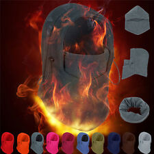 Fleece Balaclava Hood Swat Ski Mask Bike Beanies Winter Wind Stopper Face Hats M