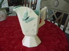 VINTAGE HULL ART POTTERY BUTTERFLY FOOTED PITCHER CIRCA 1956