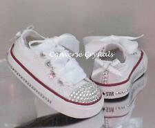 Girls Custom Crystal Toes, Sides and Backs *Bling* Converse  Infant Sizes 2-10