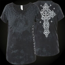 Affliction Woman T-Shirt Romanesque Black
